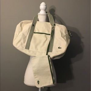 5a139cdefd4add Lacoste Gym Travel Weekender Canvas Duffle Bag
